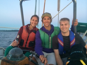 myself, Kevin, and Jaron sailing the Puget Sound.